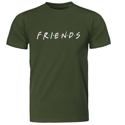 męska koszulka t-shirt friends przyjaciele zielona