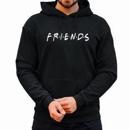 Friends – Bluza męska z kapturem przyjaciele typu kangurka czarna