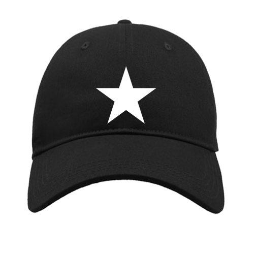 czapka z daszkiem gwiazdą czarna