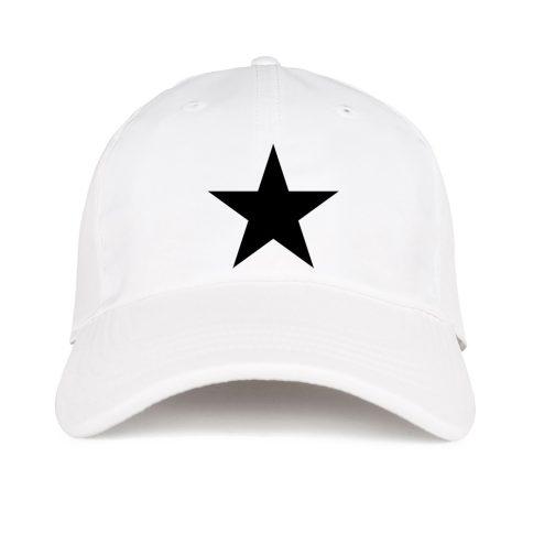 czapka z daszkiem gwiazdą biała