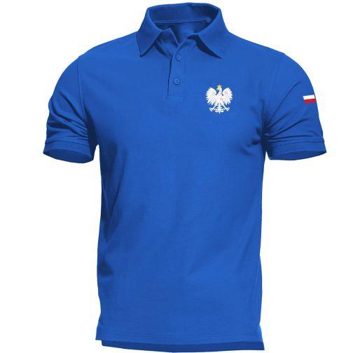 koszulka polo z orłem polski orzeł męska niebieska