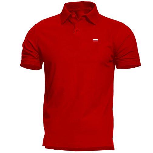 Męska koszulka Patriotyczna Polo z flagą Polski czerwona