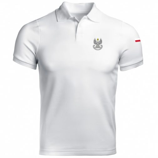 Koszulka polo patriotyczna - Wojska obrony terytorialnej WOT militarna wojskowa biała