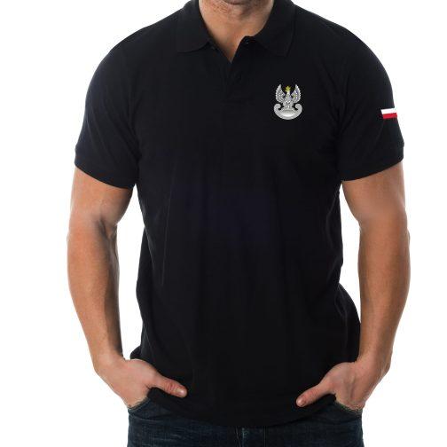 Koszulka polo patriotyczna - Wojska obrony terytorialnej WOT militarna wojskowa czarna