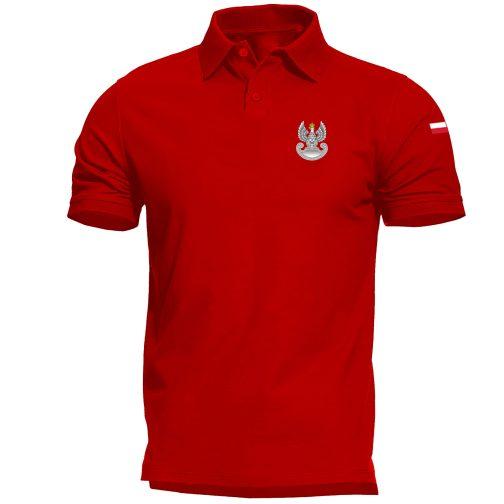 Koszulka polo patriotyczna - Wojska obrony terytorialnej WOT militarna wojskowa czerwona