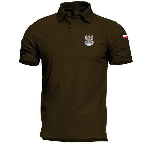 Koszulka polo patriotyczna - Wojska obrony terytorialnej WOT zielona wojskowa
