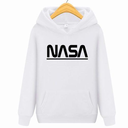 NASA Bluza męska kapturem kangurka wys. PL biała