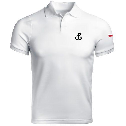 męska koszulka polo walcząca polówka biała