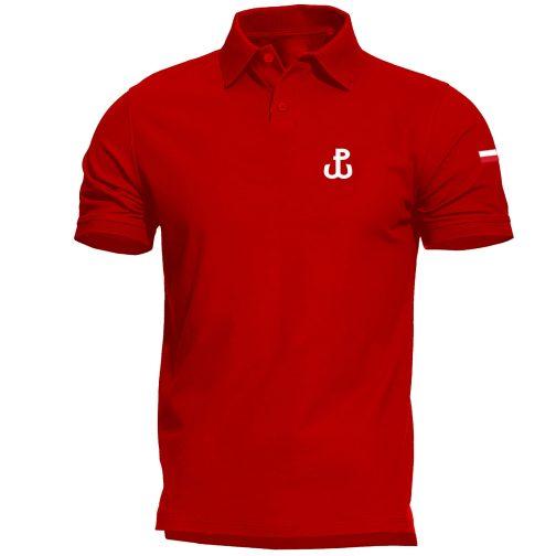 męska koszulka polo walcząca polówka czerwona