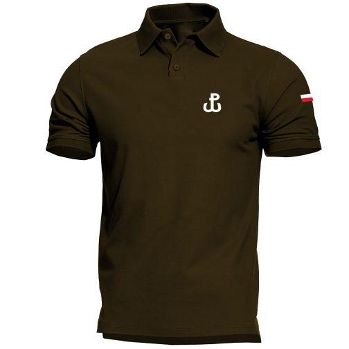 męska koszulka polo walcząca polówka zielona khaki wojskowa