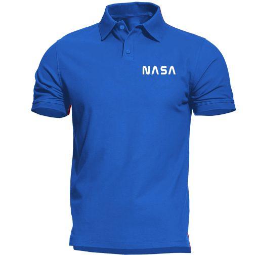 nasa alpha polo męska koszulka niebieska