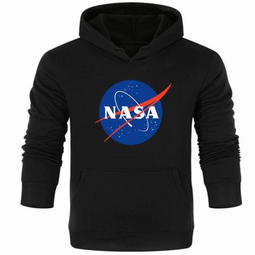 NASA Bluza męska kapturem kangurka wys. PL czarna