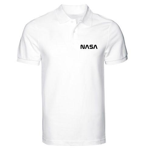 nasa polo męska alpha biała koszulka