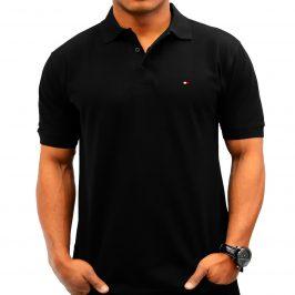Męska koszulka polo Tommy black – czarna