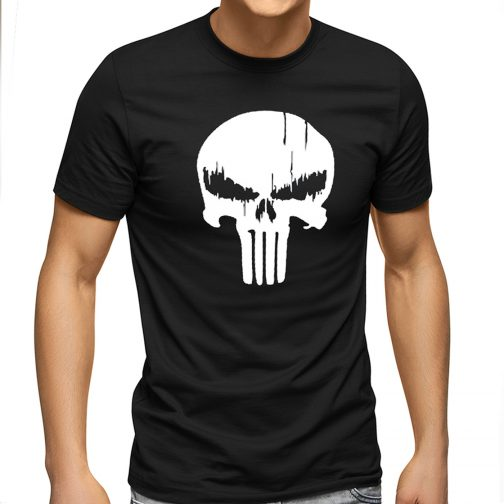 Punisher Marvel - męska koszulka t-shirt z czaszką czarna