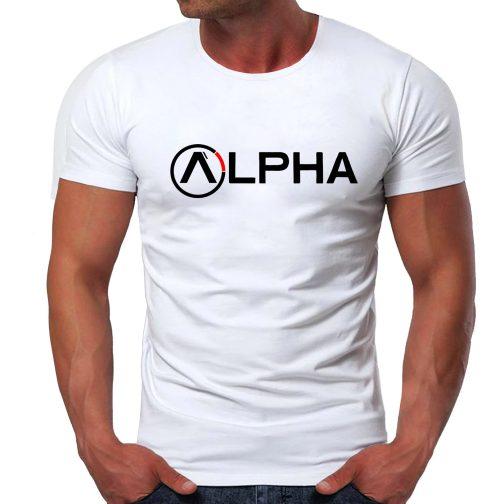 męska koszulka alpha t-shirt industries biała
