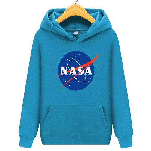 bluza nasa dziecka dzieci kapturem niebieska