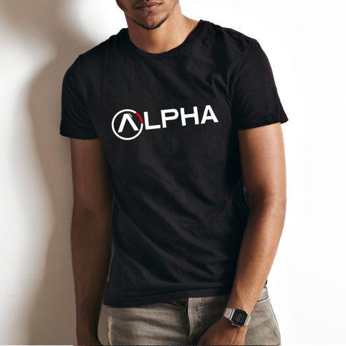 męska koszulka alpha t-shirt industries czarna
