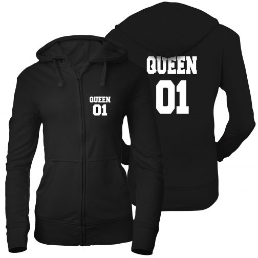 bluza damska rozpinana zamek queen 01 królowa czarna