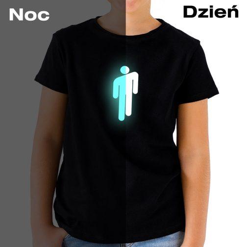 billie eilish koszula t-shirt dziecka dziewczynki świecąca czarna