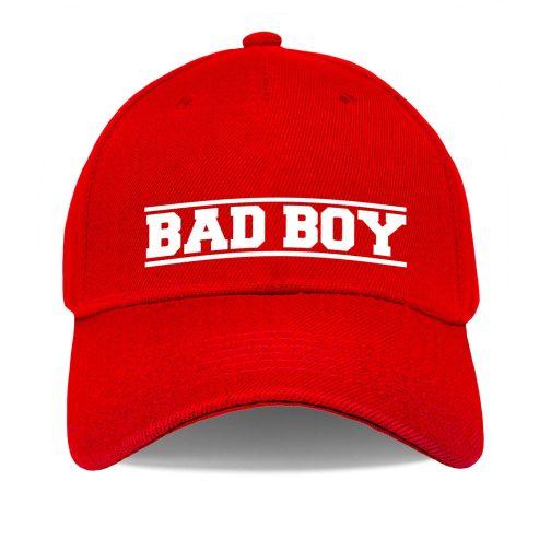 Czapka z daszkiem Bad Boy – zły, niegrzeczny chłopiec - bejsbolówka męska czerwona