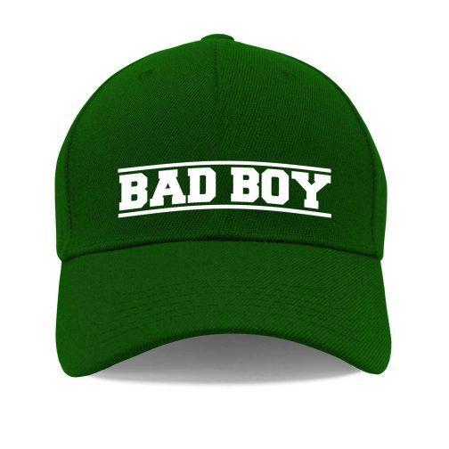 Czapka z daszkiem Bad Boy – zły, niegrzeczny chłopiec zielona męska