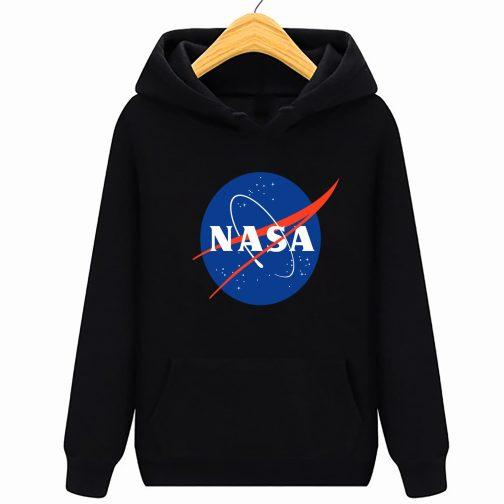 Bluza dziecięca czarna NASA z kapturem kangurka WYS. Jakość PL