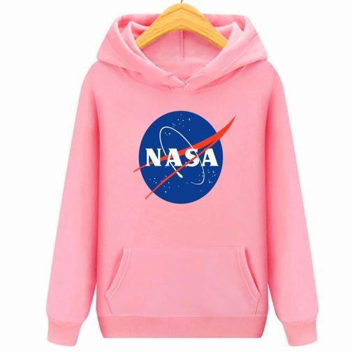 Bluza dziecięca różowa NASA z kapturem kangurka WYS. Jakość PL