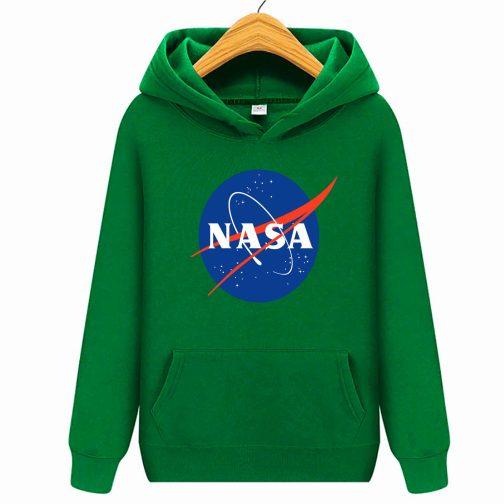 Bluza dziecięca zielona NASA z kapturem kangurka WYS. Jakość PL