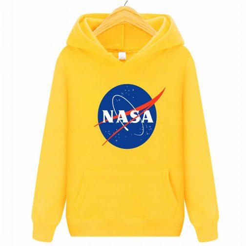 Bluza dziecięca żółta NASA z kapturem kangurka WYS. Jakość PL