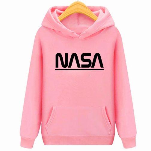 Bluza dziecięca różowa NASA z kapturem kangurka PREMIUM wys. PL