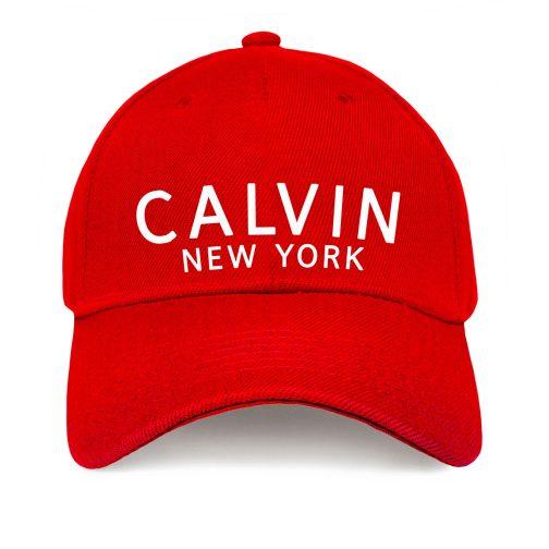 Czapka z daszkiem Calvin New York – bejsbolówka damska, klein męska czerwona
