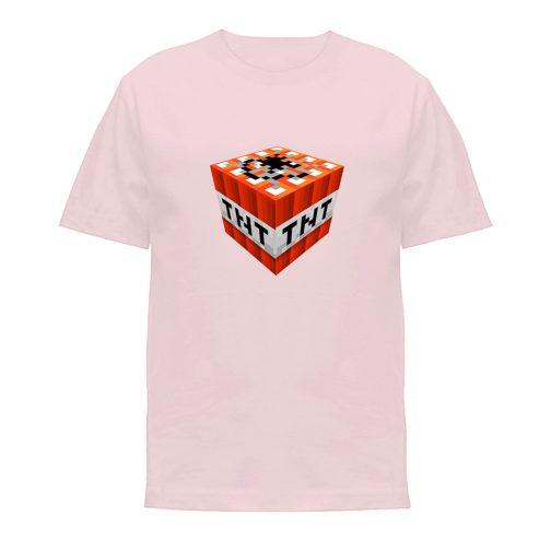 koszulka minecraft t-shirt chłopca dziewczynki dziecka różowa