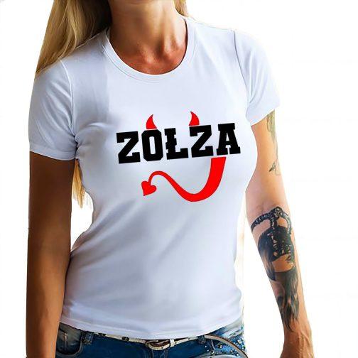 Zołza koszulka biała damska T-shirt dla zołzy