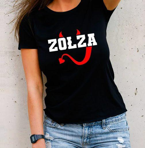 Zołza koszulka czarna damska T-shirt dla zołzy