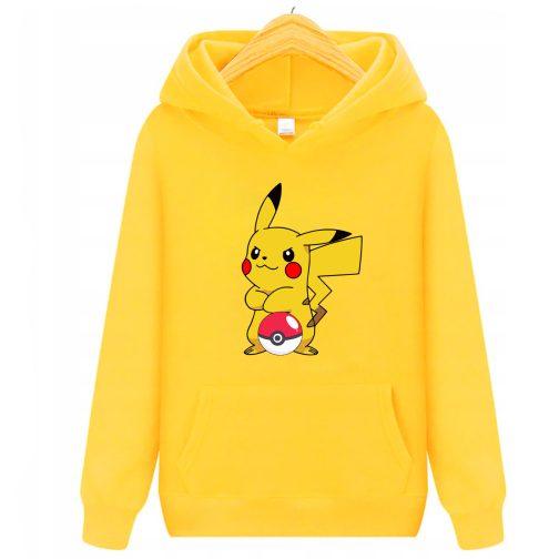 bluza pikachu dla dzieci - bluza z kapturem dla dzieci żólta