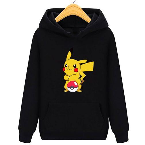 bluza pikachu dla dzieci - bluza z kapturem dla dzieci czarna