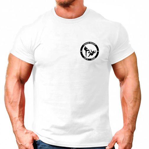 koszulka good night left side męska t shirt męski biała