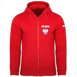 Bluza patriotyczna z orłem Polski – męska bluza rozpinana z kapturem