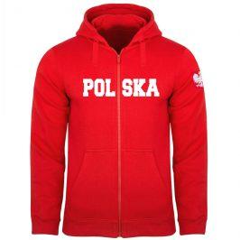 Patriotyczna bluza z kapturem rozpinana – Bluza męska dla kibica POLSKA