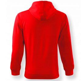 Bluza męska American PITBULL rozpinana na zamek z kapturem czerwona