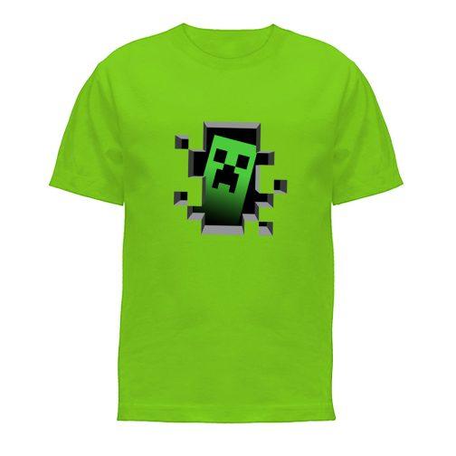 koszulka minecraft creeper koszulki dla dzieci zielona