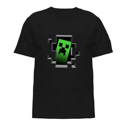 koszulka minecraft creeper koszulki dla dzieci czarna