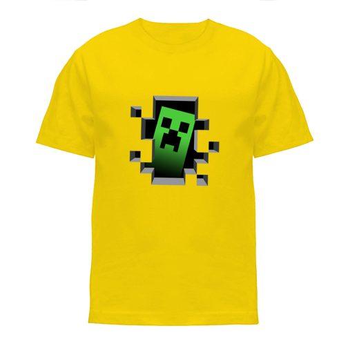 koszulka minecraft creeper koszulki dla dzieci żółta