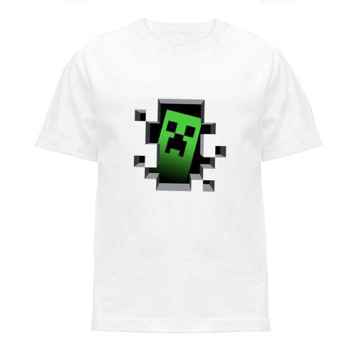 koszulka minecraft creeper koszulki dla dzieci biała