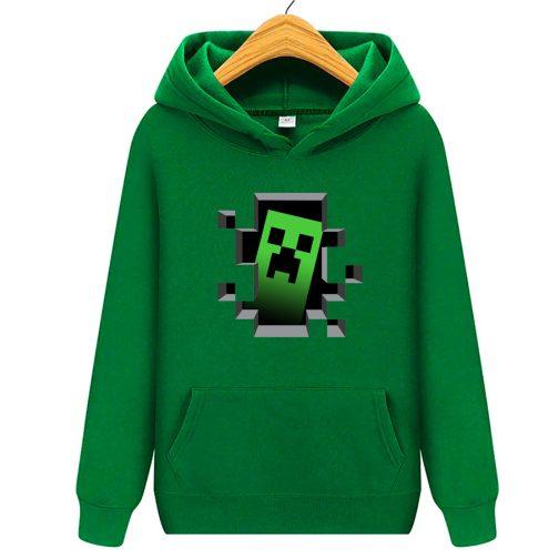 bluza minecraft creeper - bluzy dla dziecka z kapturem zielona