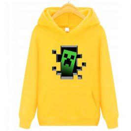 Bluza minecraft – creeper bluza dla dzieci z kapturem