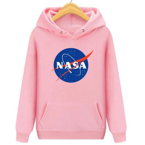 nasa różowa bluza z kapturem damska